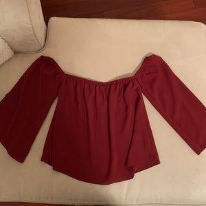Aritzia off the shoulder blouse